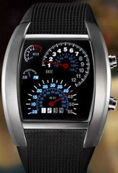 Racing Car Dial Watch for Men and Women Relogio Masculino