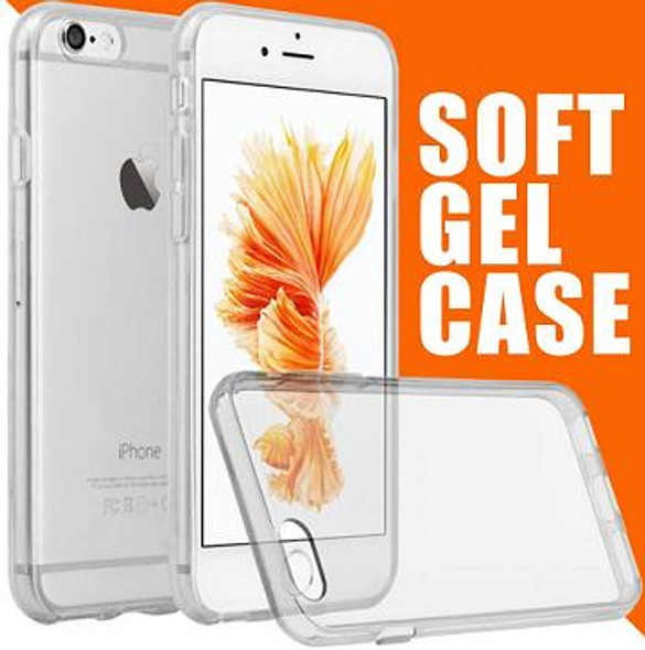 iPhone or Samsung Soft Gel TPU Clear Cases
