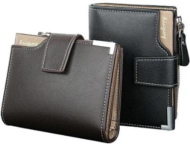 Baellerry Leather Wallet with zipper