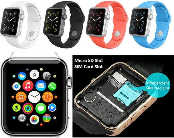 Bluetooth Smartwatch for all iPhone and Samsung phones - With SIM Card Option