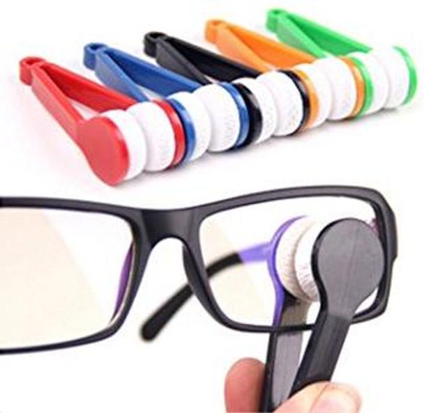 Mini Portable Glasses Eyeglass Sunglasses Spectacles Microfiber Cleaner Brushes