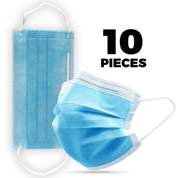 10 x Disposable Face Mask