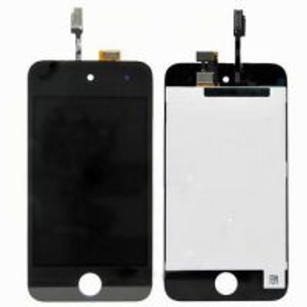 iPod Touch 4 Black Complete LCD Display Assembly