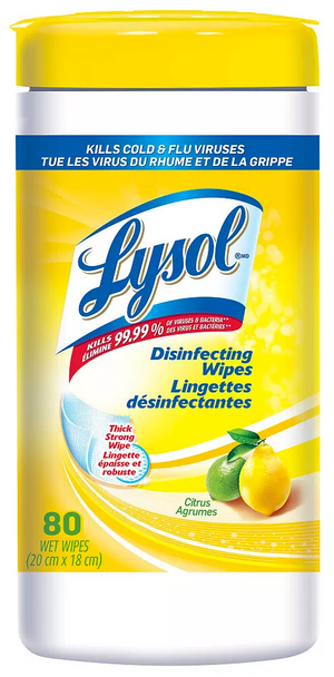 LYSOL Hand Wipes 80 per box