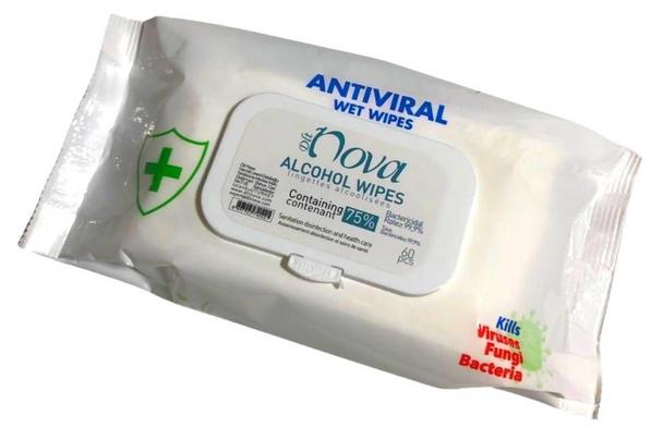 Nova Anti Bacterial Wipes