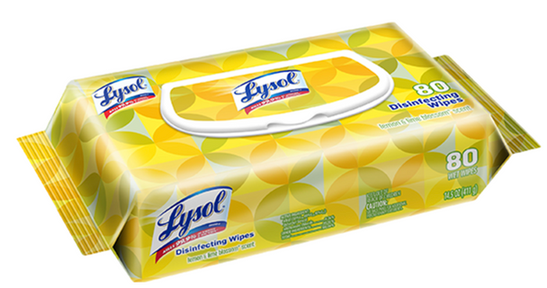 Hand Wipes 80 per box Lysol