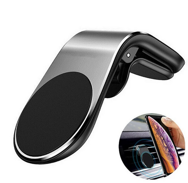 Metal Magnetic Car Phone Holder Mini Air Vent Clip Mount Magnet Mobile Stand For iPhone