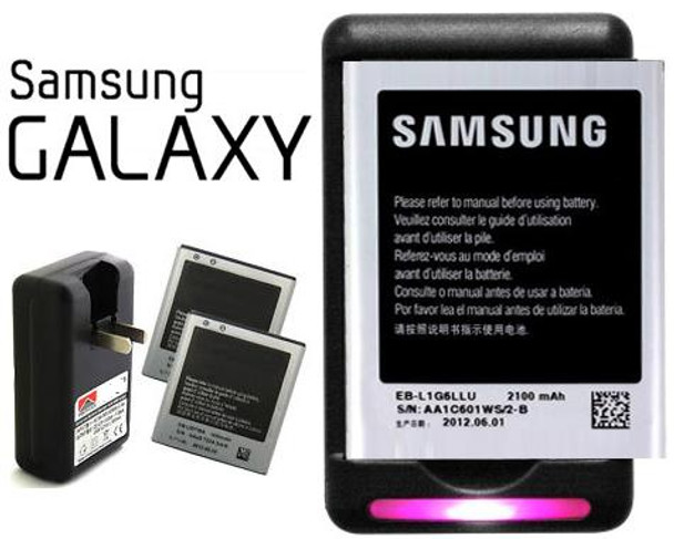 Samsung Galaxy S3, S4, S5, Note 2, NOTE 3, NOTE 4 Battery + Wall Charger