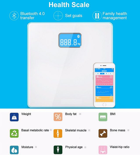 Bluetooth Smart Weighing Scale - iPhone and Android Fitness scale