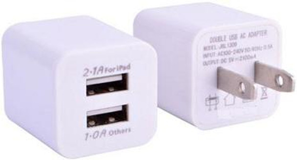 2 Port USB Wall Charger for Apple iDevices iPhone iPad