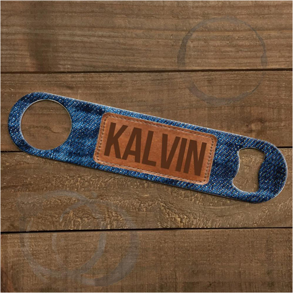 Custom Bottle Opener - Denim
