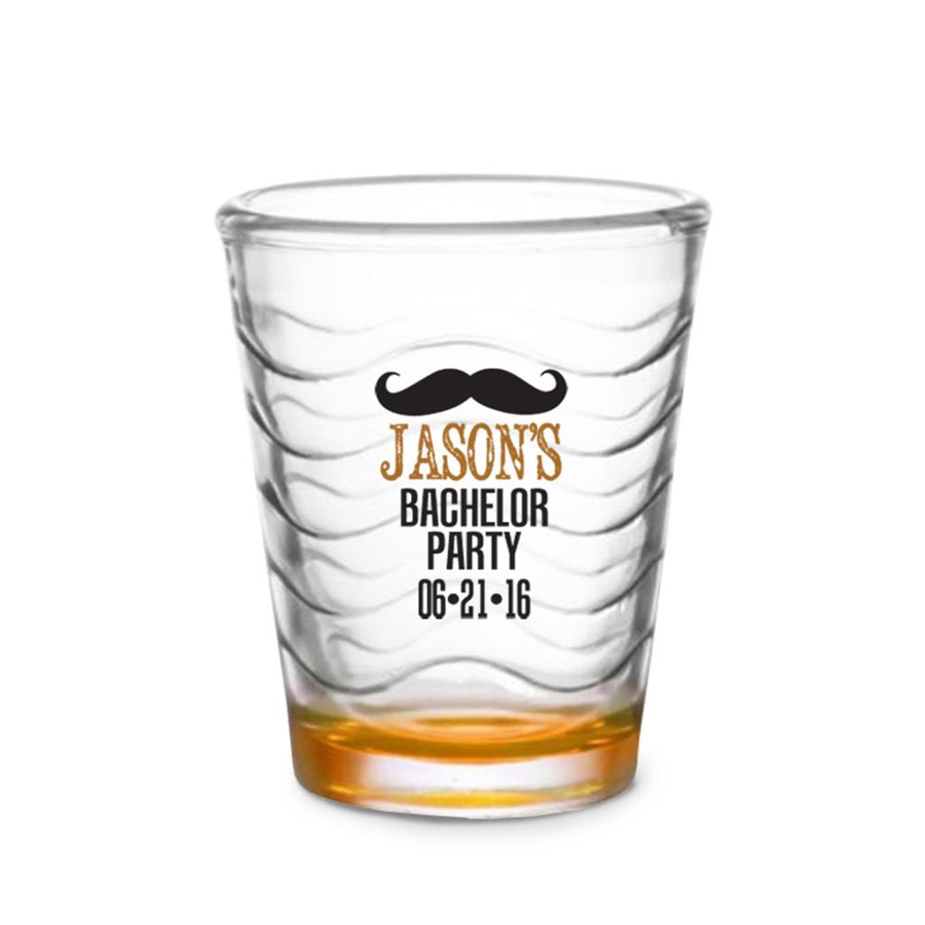 Custom Shot Glass - Moustache (Set of 4)
