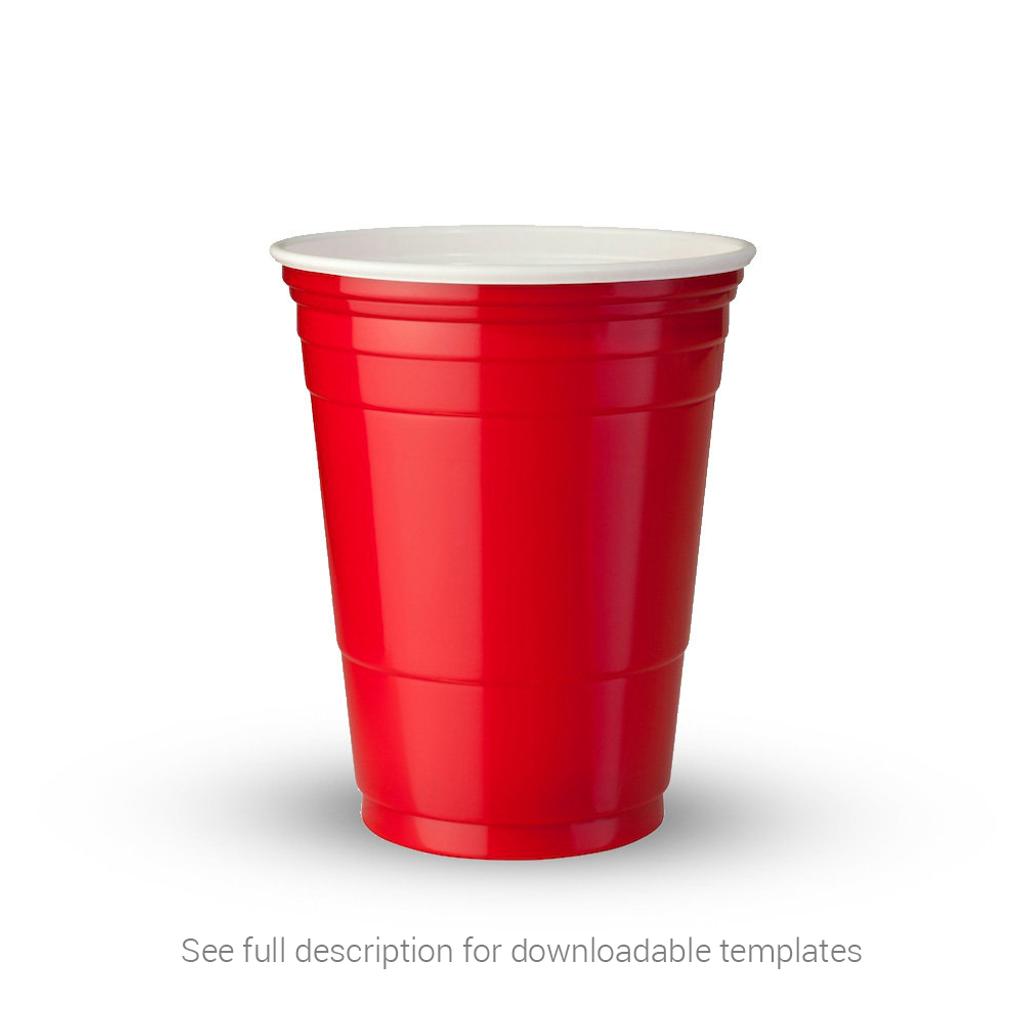 Custom Beer Pong Cups - Red