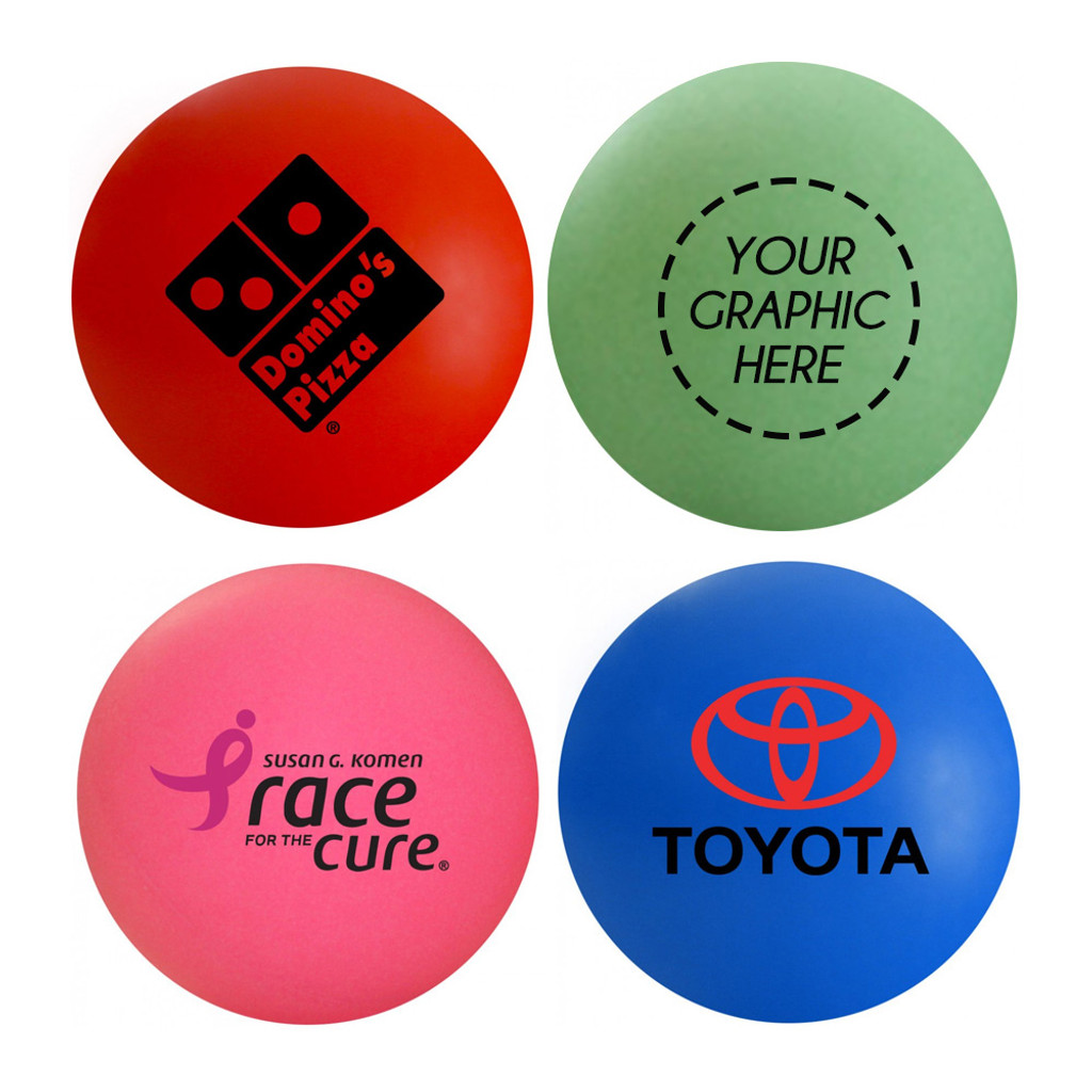 Custom Color Ping Pong Ball (1-Star, Double Sided Imprint)