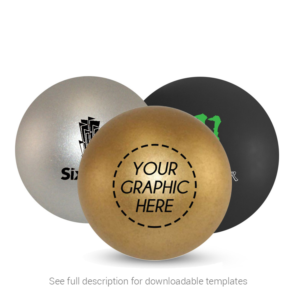 Custom Silver, Gold or Black Ping Pong Ball