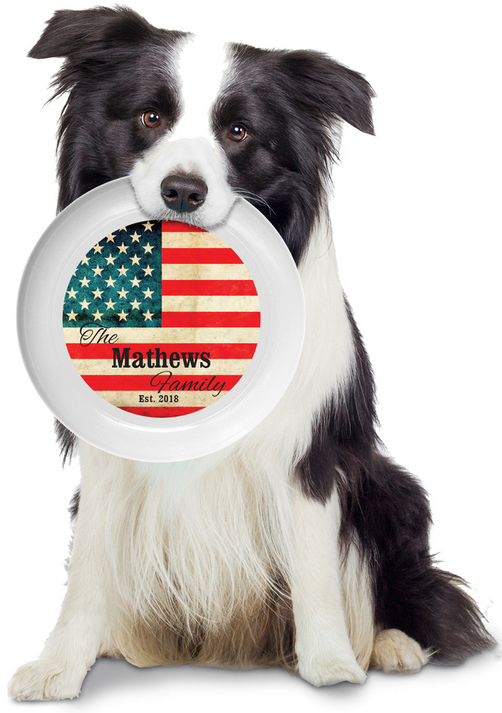 American Flag Personalized Frisbee