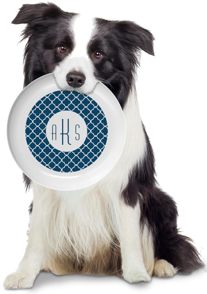 Blue Pattern Personalized Frisbee