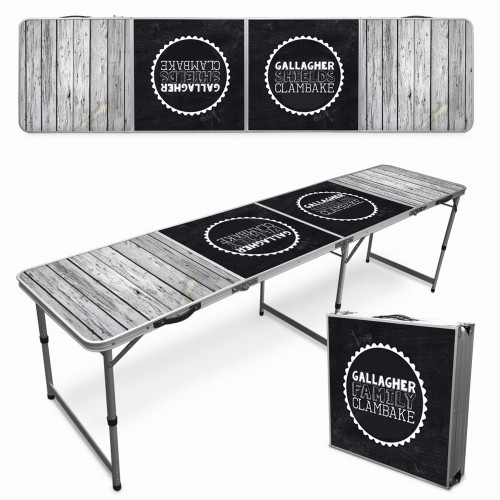 Custom Beer Pong Table - Beach Wood