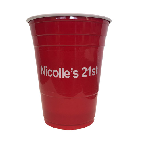 Custom Beer Pong Cups - Red