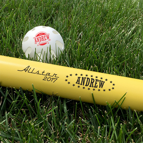 Customized Wiffle Ball and Bat Set - AllStar