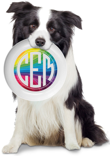 Rainbow Personalized Frisbee