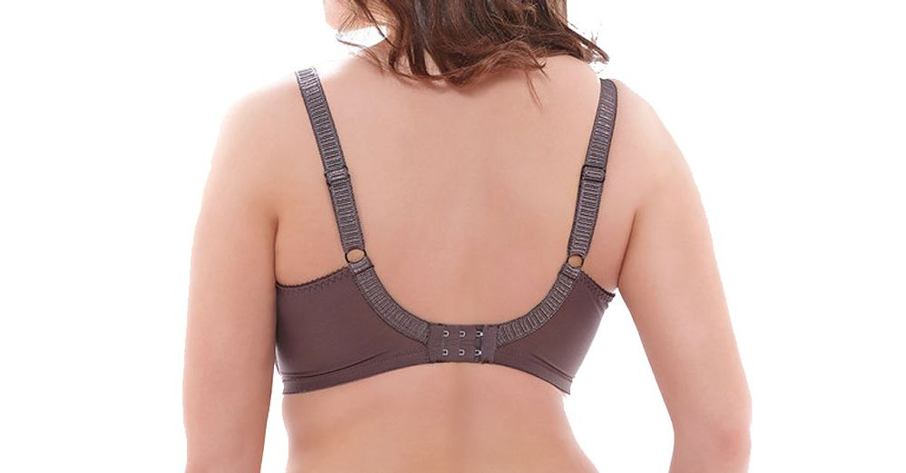 Elomi Cate EL4030 W Underwired Full Cup Banded Bra Pecan 36 F CS PCN