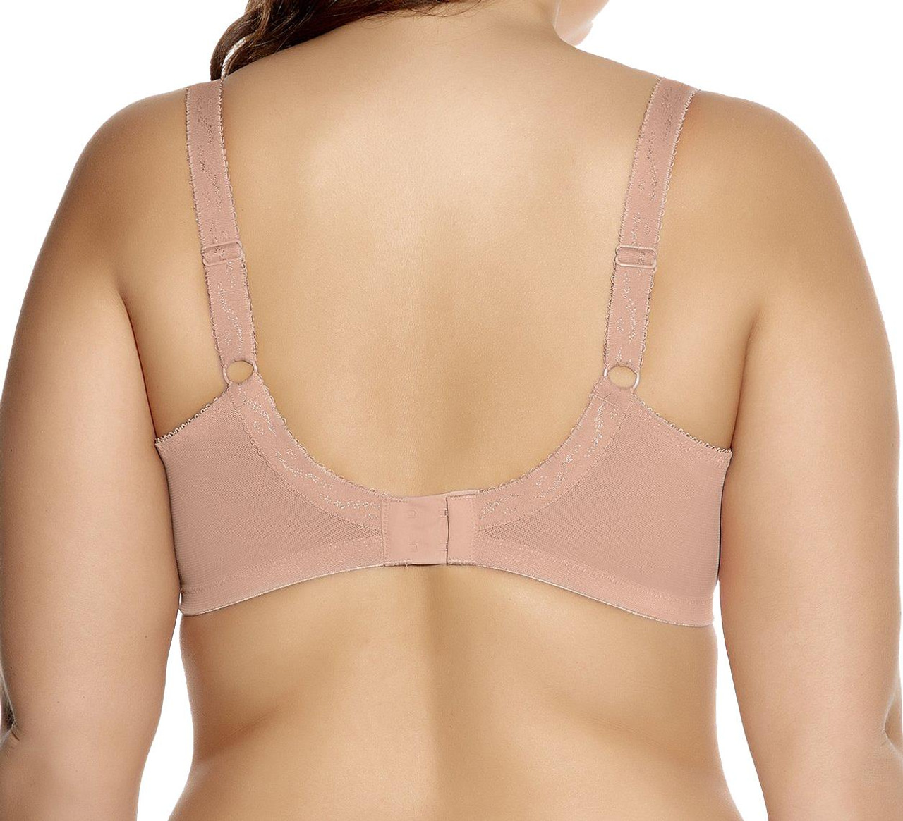 NUE Goddess Keira GD6090 W Underwired Banded Bra Nude 38K CS