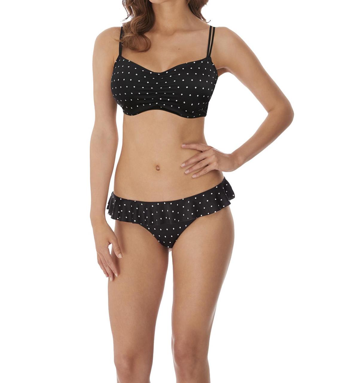 Freya Jewel Cove AS7239 W Underwired Bralette Crop Bikini Top Black BLK CS