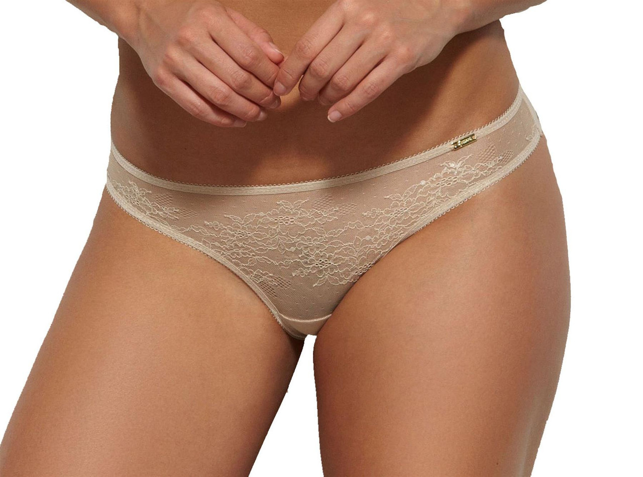 Details about  /Gossard 13006 Glossies Lace Sheer Thong
