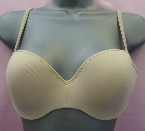 SPECIAL BEIGE UNDER WIRED PADDED MOULDED CUP BRA TRIUMPH MADE