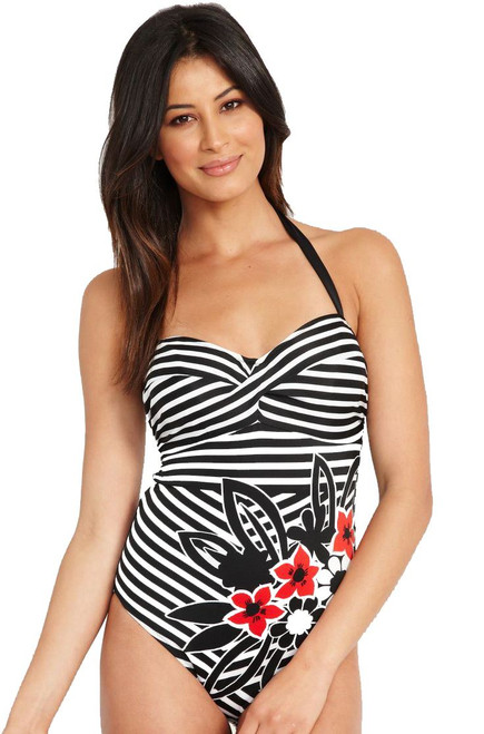 Fantasie Genoa WP FS5837 Underwired, Padded Halter Swimsuit
