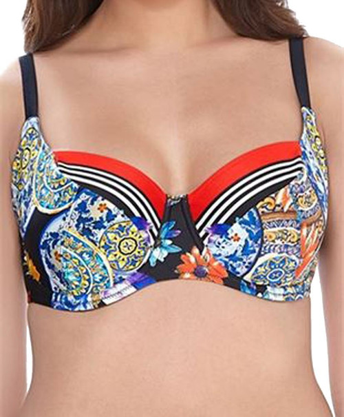VIO Fantasie Long Island FS6900 W Underwired Plunge Bikini Top Vino CS