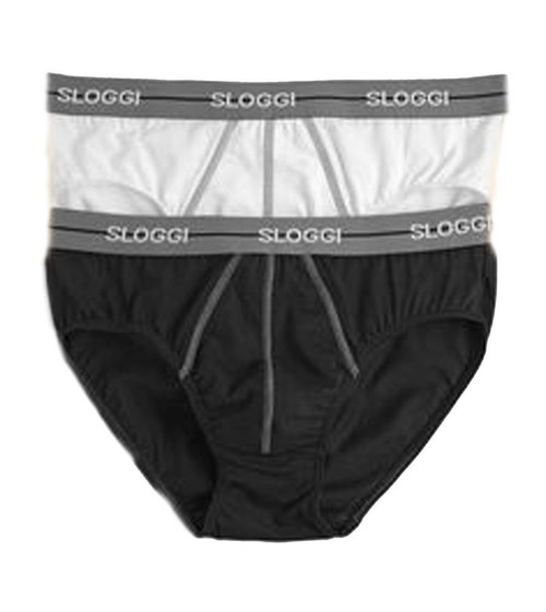 Sloggi Start Midi C2P 2 Pack Briefs BLACK COMBINATION (M014) CS