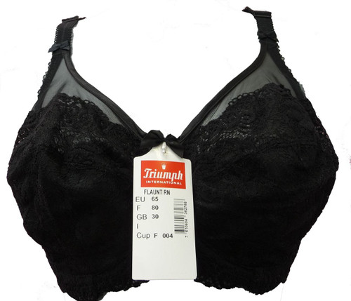 TRIUMPH FLAUNT RN UNDER WIRED BLACK BRA