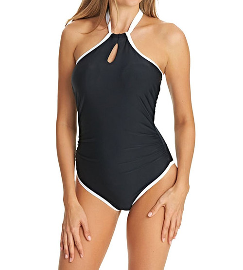 Freya Back To Black AS3705 W Underwired High Neck Swimsuit Black (BLK) CS