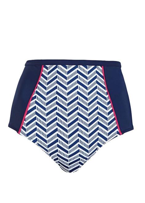 Elomi Chevron ES7453 Classic High Waist Bikini Brief