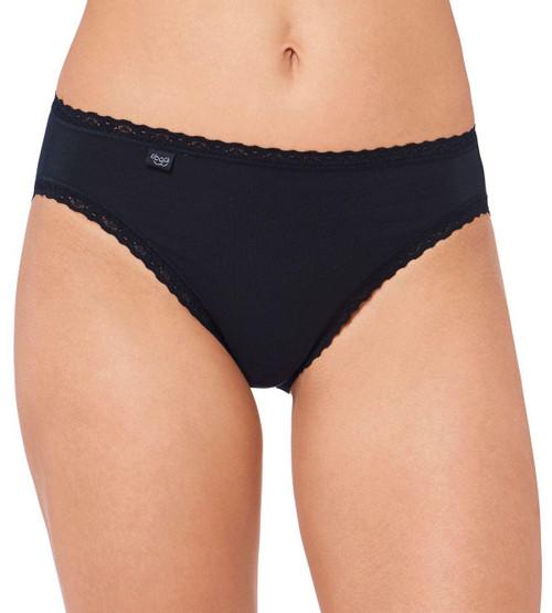Sloggi Women 24/7 Cotton Lace Tai Briefs (0004) Black CS