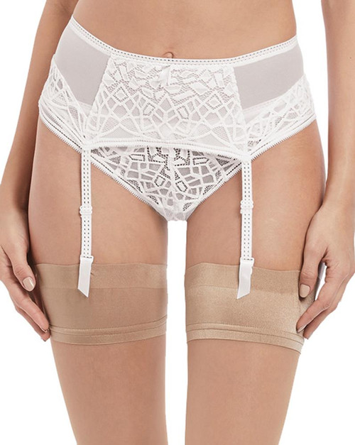 Freya Soiree Lace AA5019 Suspender Belt White (WHE) CS