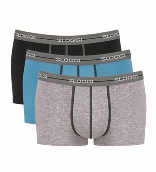 Sloggi Start Hipster C3P 3 Pack Briefs Grey Combination M013 CS