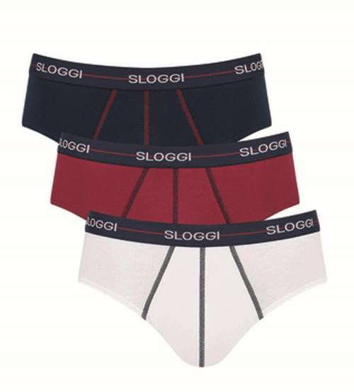 Sloggi Start Midi C3P 3 Pack Briefs Multiple Colours 5 (V005) CS