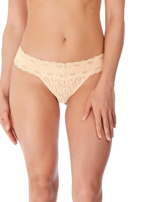 Wacoal Halo Lace WA879205 Thong Brief Nude NUE CS