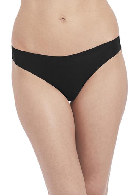 Wacoal Beyond Naked Cotton WA879259 Thong Brief Black BLK CS
