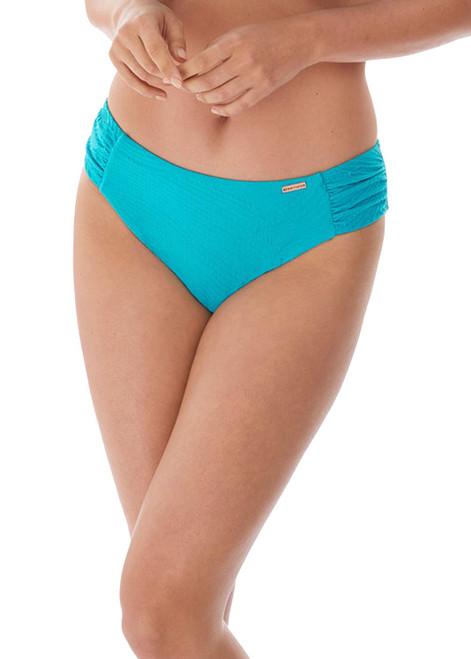 Fantasie Ottawa FS6358 Mid Rise Gathered Sides Bikini Brief Aquamarine CS