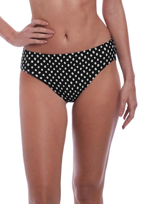 Fantasie Santa Monica FS6725 Mid Rise Bikini Brief Black/White BLI CS