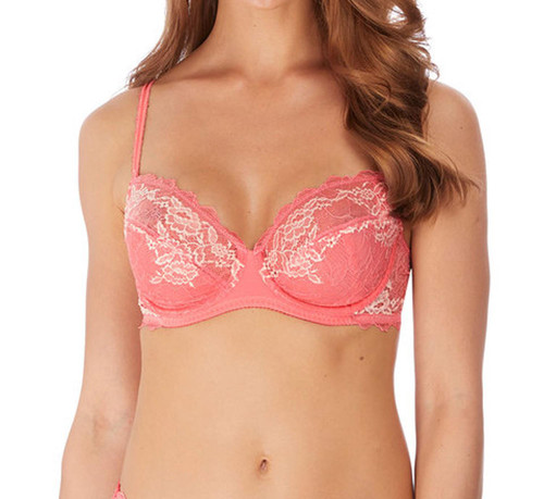 Wacoal Lace Perfection WE135002 W Underwired Average Wire Bra Berry Ice CS