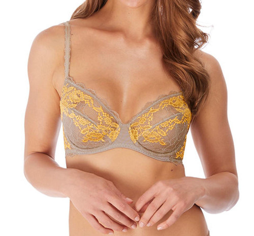 Wacoal Lace Perfection WE135002 W Underwired Average Wire Bra Moon Rock CS