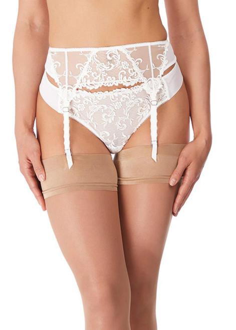 Wacoal Decadence WE142008 Suspender White Jasmine WJE CS