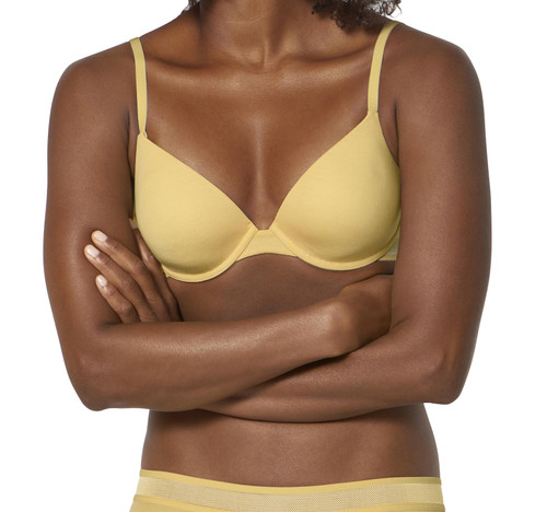 Sloggi Ever Fresh WHP Underwired Half Cup Padded T-Shirt Bra Egg Yellow CS