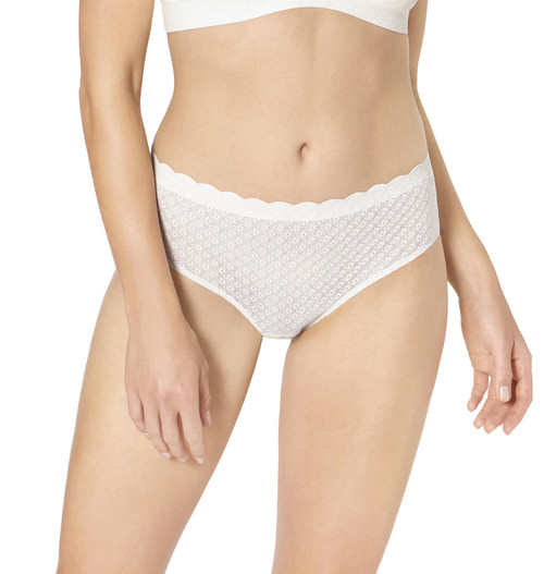 Sloggi Zero Feel Lace High Waist Panty Brief Angora (6308) CS