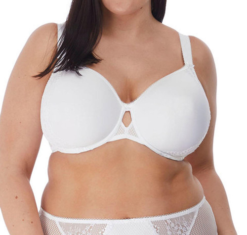 Elomi Charley EL4383 W Underwired Bandless Moulded Bra White WHE CS